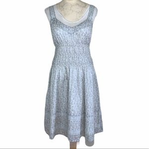 DKNY Jeans OceanPark Dress White and Silver Size M
